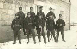 "4407"" GRENZBESETZUNG 1914-15 - VETERANEN GRUPPE "" 30° BATTAGLIONE FANTERIA FOTOCARTOLINA ORIGINALE - Guerra, Militari"