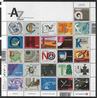 New Zealand SG3060a 2008 A-Z 26 Values Set Unmounted Mint Sheet [L0001/4D] - New Zealand