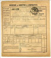 Ticket De Transport Par Tramway - Récépissé De La Compagnie Des Tramways Libournais 1919 - Libourne - Chemins De Fer - Titres De Transport