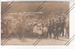 TRES RARE Carte Photo NEUF BRISACH (68) - L'arrivée Du 2eme Bataillon De Chasseurs (enfants, Marcel JOUGLAS) - Régiments