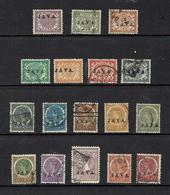 NETHERLAND INDIES...1906..JAVA  Overprints.. - Netherlands Indies
