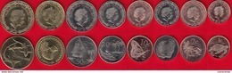 "Tokelau Set Of 8 Coins: 1 Cent - 2 Dollars 2017 ""New Coin Family"" UNC - Munten"