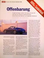 CA191 Zeitschrift Auto Revue Sonderdruck Porsche 911 Carrera Cabrio 996, Neu - Auto & Verkehr