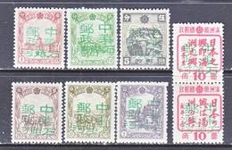 MANCHUKUO  KERR 182.  1-8     **  SHIN  TAO  HO  TZE - 1932-45 Manchuria (Manchukuo)