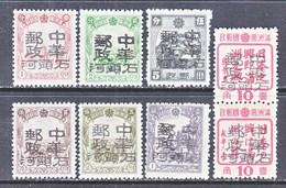 MANCHUKUO  KERR 182.  9-16    **  SHIN  TAO  HO  TZE - 1932-45 Manchuria (Manchukuo)