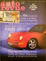 CA195 Zeitschrift Auto Revue, Ausgabe 1/1992 Mit Porsche Carrera RS, Niki Lauda - Auto & Verkehr