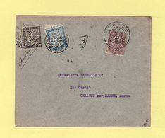 Type Blanc - Taxe à 6 Centimes Sur Imprime Affranchi à 2c Au Lieu De 5c - Troyes - Chalons Sur Marne - 1910 - Marcophilie (Lettres)