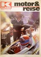 CA197 Zeitschrift Kurier Motor & Reise, August 1980, Grand Prix Von Österreich, Neu - Automóviles & Transporte