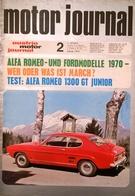 CA207 Zeitschrift Austria Motor Journal, Ausgabe 2, 1970, Alfa- Und Fordmodelle 1970 - Auto & Verkehr