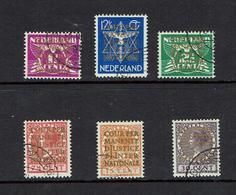 NETHERLANDS....Officials...1934...gold Overprints - Officials