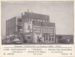 """ASTENE - DEINZE - Café-Restaurant """"Tourist"""" - 1950-1960 - Grootformaat 15 Cm X 11 Cm - Hanna Pils Brasserie Labor Mons - Deinze"""