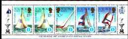 5529bis ) SOLOMON ISLANDS 1986 AMERICA'S CUP 1987  Sere In Striscia-MNH** - Isole Salomone (1978-...)