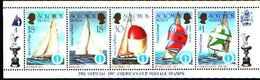 5530bis ) SOLOMON ISLANDS 1986 AMERICA'S CUP 1987  Sere In Striscia-MNH** - Isole Salomone (1978-...)
