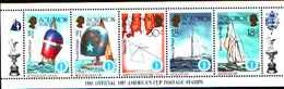 5532bis ) SOLOMON ISLANDS 1986 AMERICA'S CUP 1987  Sere In Striscia-MNH** - Isole Salomone (1978-...)