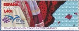 ESPAGNE SPANIEN SPAIN ESPAÑA  2019 EUROMED REGIONAL COSTUMES OF THE MEDITERRANEO TRAJES MNH ED 5329 MI 5362 YT 5069 - 2011-... Ongebruikt