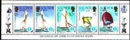 5533bis ) SOLOMON ISLANDS 1986 AMERICA'S CUP 1987  Sere In Striscia-MNH** - Isole Salomone (1978-...)