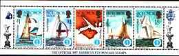 5534bis ) SOLOMON ISLANDS 1986 AMERICA'S CUP 1987  Sere In Striscia-MNH** - Isole Salomone (1978-...)