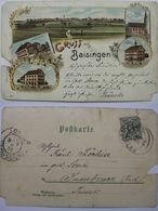 Grüss Aus BAISINGEN - Gasthoff Löwen - A. Teufel - Carte Précurseur - Voyagé 1898 - - Allemagne