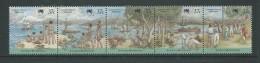 Christmas Island 1988 Australia Bicentennial Strip Of 5 MNH - Christmas Island