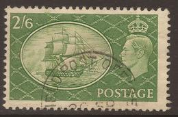 GREAT BRITAIN. GVI. FPO CANCEL ON 2/6d GREEN. USED - 1902-1951 (Kings)
