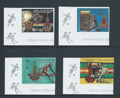 Libya 1979 Moscow Olympic Games Imperforate Set Of 4 Wide Margins MNH - Libya