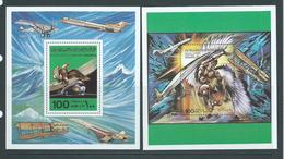 Libya 1978 Manned Flight Anniversary 100 Dm Miniature Sheets Set Of 2 MNH - Libya
