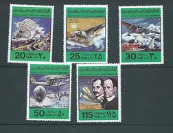 Libya 1978 Manned Flight Anniversary Set Of 5 MNH - Libya