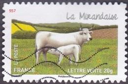 Oblitération Moderne Sur Autoadhésif De France N°  957 - Nature - Vache - La Mirandaise - France