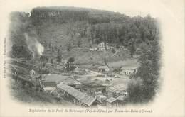 """/ CPA FRANCE 23 """"Evaux Les Bains, Exploitation De La Forêt De Bertranges"""" - Evaux Les Bains"""