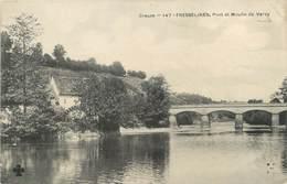 """/ CPA FRANCE 23 """"Fresselines, Pont Et Moulin De Vervy"""" - Other Municipalities"""