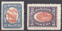 INGRIA - 1920 - Lotto Di 2 Valori Nuovi Senza Linguella: Yvert 10 E 13 (seconda Scelta). - Finland