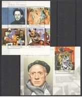 Santo Tome Y Principe 2013 - Art Painting Pablo Picasso M/s + S/s Mnh - Picasso