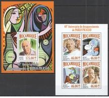 Mozambique 2013 - Art Painting Pablo Picasso M/s + S/s Mnh - Picasso