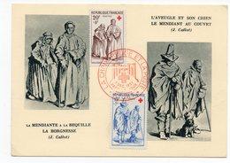 Carte Maximum 1957 -  Croix Rouge YT 1140 & 1141 - 79 Niort - Maximum Cards