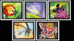 Canada (Scott No.2234-38 - Insectes Bénéfiques / Beneficial Insectse) [**] Série / Set - Neufs