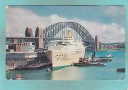 Small Post Card Of The Oriana,Harbour Bridge,Sydney,New South Wales, Australia.,V103. - Sydney