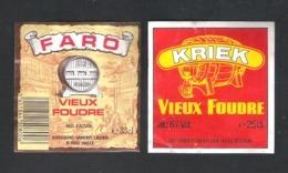 BROUWERIJ  VANDER LINDEN - HALLE -  FARO VIEUX FOUDRE - KRIEK VIEUX FOUDRE   - 2 BIERETIKETTEN  (BE 647) - Beer