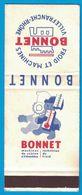 POCHETTE SANS ALLUMETTES PUBLISTIP PARIS / BONNET FROID ET MACHINES VILLEFRANCHE-RHONE MACHINES DE CUISINE - Boites D'allumettes