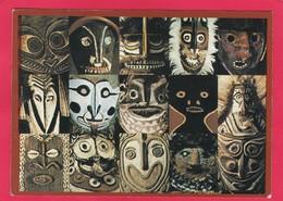 Modern Multi View Post Card Of Facial Decoration,Papua New Guinea And Australia.D22. - Papua New Guinea