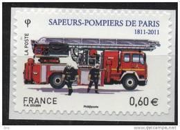 N° 602 Adhésif , Sapeurs Pompiers De Paris, Valeur Faciale 0,60 € - France