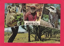 Modern Multi View Post Card Of Greetings From Australia..D22. - Australia