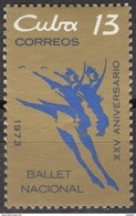 CUBA 1973, ART, 25 Years CUBAN NATIONAL BALLET, COMPLETE MNH SET, GOOD QUALITY, *** - Unused Stamps