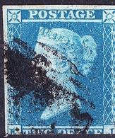 GREAT BRITAIN 1841 QV  2d Blue SG14 CV £75 - 1840-1901 (Victoria)