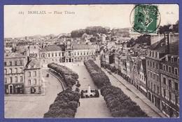 MORLAIX Place Thiers 1908 (CORNURE LEGERE 1 ANGLE SINON TTB état ) C185 - Morlaix