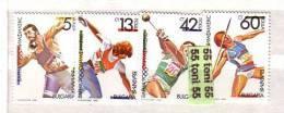 BULGARIA  / Bulgarie 1990 Olympic Stamps Exhibition – Olymphilex  4v.- MNH - Neufs