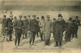 #240619 - AVIATION DIRIGEABLE - Lieutenants Aviateurs Epinal Général LESCOT Baron E De TURCKHEIM Zeppelin à Lunéville - Dirigibili