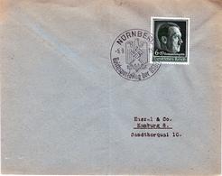 GERMANY 1936 STAMP & SPECIAL REICHSPARTEITAG NURNBERG POSTMARK - Briefe U. Dokumente