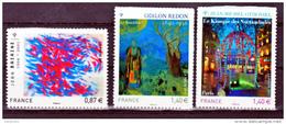 France  525 550 551 Tableaux Bazaine Redon Othoniel Neuf ** TB MNH Sin Charnela - France