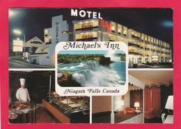 Modern Multi View Post Card Of Michael`s Inn,Niagara Falls,Canada,D22. - Niagara Falls