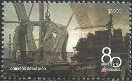 2018 MÉXICO  80 Aniversario De PEMEX, PETRÓLEOS MEXICANOS, SELLO  MNH  PETROLEUM, OIL PLATFORM - Mexico